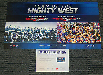 Western Bulldogs 2016 Afl Premiers Team Of The Mighty West Limited Edition Print