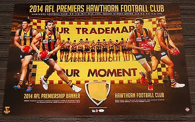 Hawthorn Hawks 2014 Afl Premiers Back To Back Official Banner Limited Print