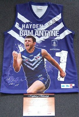 Hayden Ballantyne Hand Signed Afl Impact Limited Jumper Fremantle Dockers Fyfe