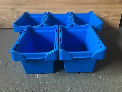 Storage  boxes  ,small ,Stackable , Great For Toys Etc !! 5 Pack.