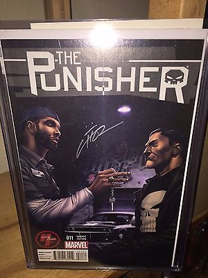 Tim Duncan Comic, PUNISHER #11, NBA Spurs Star w/Concept Car ! Signed by M. Choi
