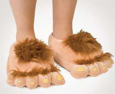 Funny Unisex Warm Slippers Big Hairy Monster Plush Home Slippers Indoor Shoes