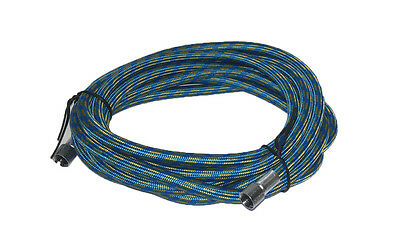 Rdgtools 3 Metre Blue Airbrush Braided Hose / Best Quality 1/8 - 1/8 Compressor