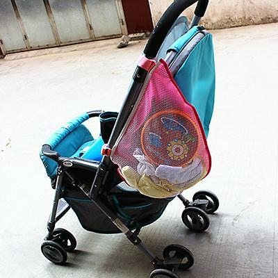 Practical Baby Stroller Hanging Safe Mesh Bag Trolley Storage Basket Net