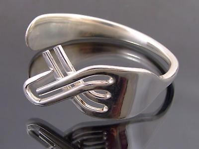 Silver Plated Fork Bracelet Bangle Unusual Gift Vintage Unique