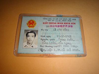 Socialist Republic Of Vietnam Male Photo ID Card Issued Year 1988 *Vintage*