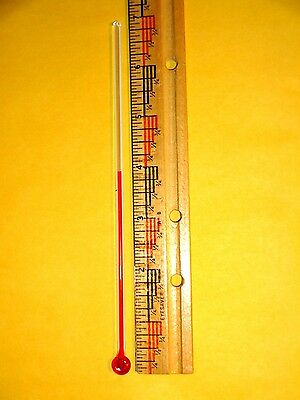 One 7  Inch Long Glass Replacement Thermometer Tube