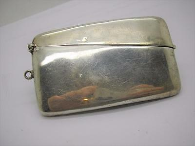 Edwardian 1902 Sterling Silver Hanging Visiting Card Case Curved