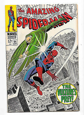 Amazing Spider-Man (1963 1st Series) #64 NM- 9.2, Date Stamp Back Cover