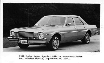 1978 Dodge Canada Aspen Special Edition Sedan ORIGINAL Factory Photo oub6433