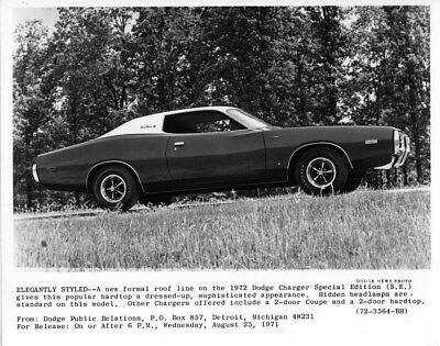 1972 Dodge Canada Charger Special Edition ORIGINAL Factory Photo oub6483