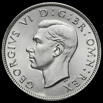 1945 George VI Silver Two Shilling Coin / Florin, BU #2