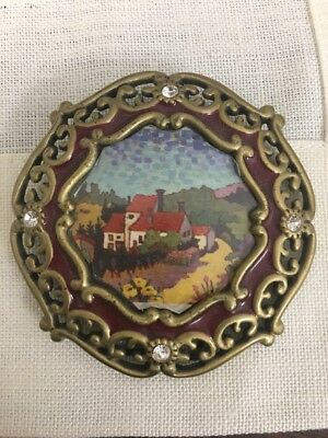 Jay Strongwater Mini Enamel Picture Frame With Swavorski Crystal