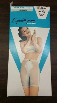 Vintage Exqusiite Form Power Net Girdle With Detachable Garters  # P916 Sm & Xl