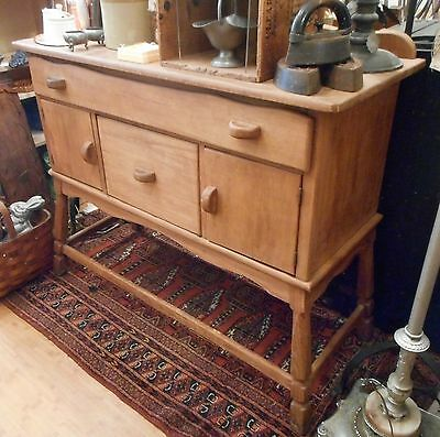 Vintage or Antique Rustic Style Pine Wood Sideboard Buffet Server Phila PA