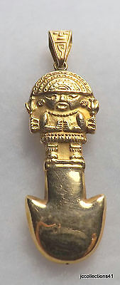 "Egyptian Pendant or Charm..18kyg..2.1 grams...1 3/4"" long x 1/2"" at widest Point"