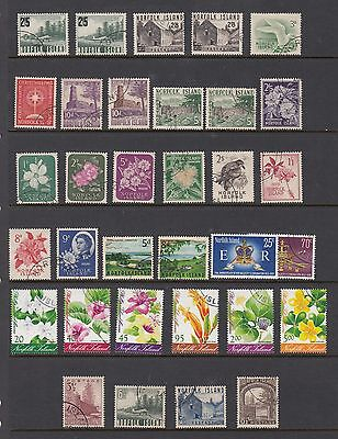 NORFOLK ISLAND group of 33 stamps, USED
