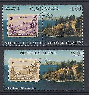 NORFOLK ISLAND 1997 STAMPS ANNIVERSARY, set of 3, USED