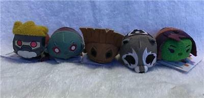 NWT DISNEY STORE GUARDIANS of the GALAXY TSUM TSUM COMPLETE SET OF 5