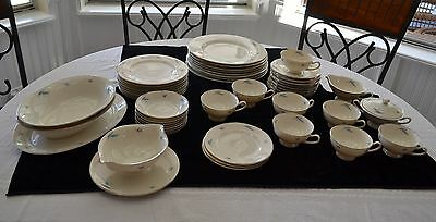 Syracuse Celeste Pattern 50 Pc Piece China Set Service for 8 Made In USA (2223IC