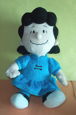 "MetLife Plush Lucy in Blue Dress Toy from Peanuts - 10"" Tall w/Tush Tag"