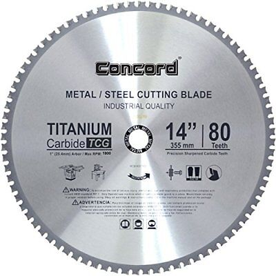 Concord Blades MCB1400T080HP 14Inch 80 Teeth TCT Ferrous Metal Cutting Blade.