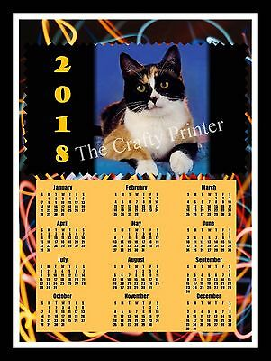 2018 Calendar Magnet  -  Calico Cat