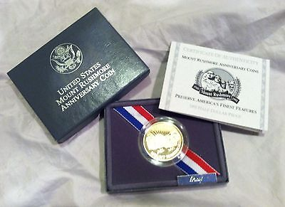 1991-S Mount Rushmore Anniversary Silver Half Dollar Proof Coin