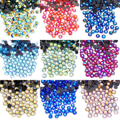 Top Quality Color AB DMC Hot Fix Crystal Rhinestones Flatback 1440Pcs 10Gross