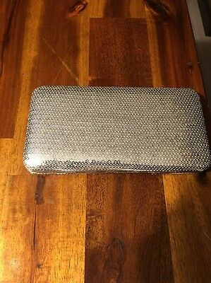 silver evening clutch new