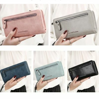 Women New Fashion Leather Wallet Button Clutch Purse Lady Long Handbag Bag