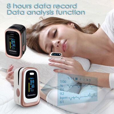 Fingertip Blood Oxygen Oximeter Monitor Sleep Apnea Monitor SPO2 PR PI ODI Hot