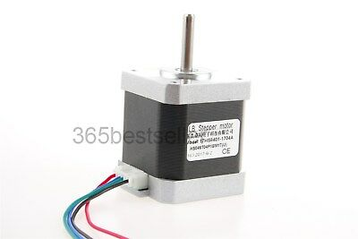 Nema 17 Stepper Motor  Bipolar 48mm 80oz.in(55Ncm) 1.7A 4 Lead 3D Printer CNC