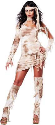 Preserved Beauty Egyptian Mystical Mummy Halloween Costume Outfit Adult Women