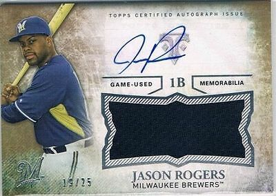 2015 Topps Triple Threads Unity Relic Autographs Gold Jason Rogers #19/25