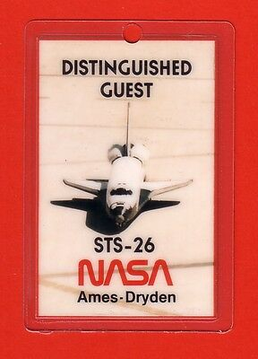 1988 Nasa Orbiter Space Shuttle Discovery Astronauts Sts-26 Access Id Badge Ksc