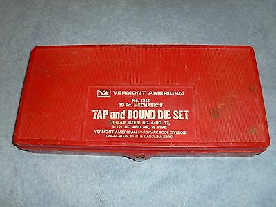 Vermont American 39 PieceTap and Die Set – Nice Condition With Plastic Case