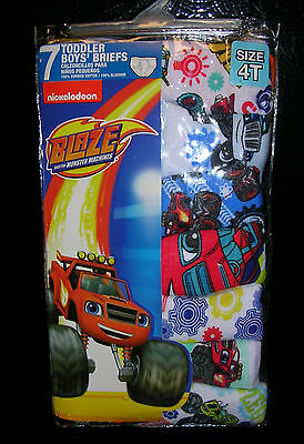 BLAZE AND THE MONSTER MACHINES BOY'S 7 Pr  Pkg BRIEFS  SIZE 4T  NWT #B