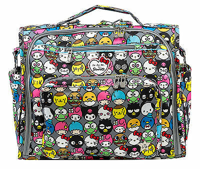 Ju Ju Be Sanrio BFF Baby Diaper Bag Backpack w Changing Pad Hello Friends NEW