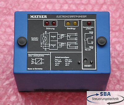 Mayser Electronic-Safety-System  Typ: SG-SUE 102