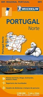 North Portugal Regional Map 591 (Michelin Regional Maps) (Map), M. 9782067184732