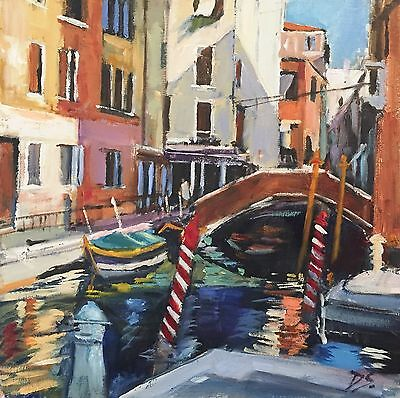 Venice Modern British Oil Painting by Deborah Sweeney (1956-)