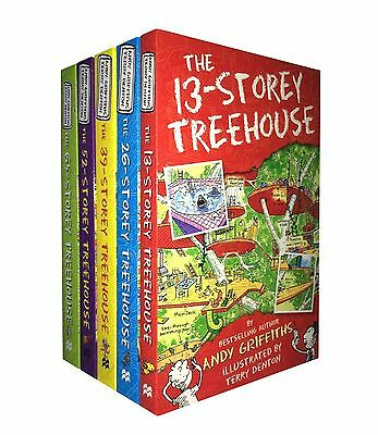 The 13-Storey Treehouse Collection 5 Books Set By Andy Griffiths & Terry Denton