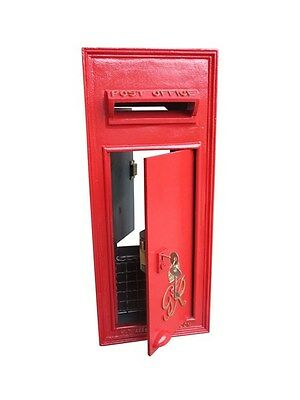 Cast Iron Wall Mounted Original Post Box with Rear Door - Refurbished