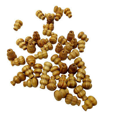 50pcs 19mm Calabash Wooden Beads Loose Spacer Charms for Jewelry Making DIY