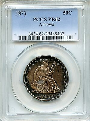 1873 Liberty Seated Half Dollar Arrows at Date PCGS PR62 ~ Proof 50c (29439452)