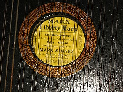 1880s Mint In Box Musical Marx & Marx Liberty Harp / Zither Antique Instrument