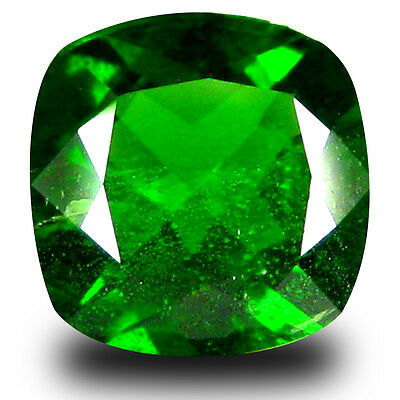 2.06 ct  Exquisite Cushion Shape (8 x 8 mm) Green Chrome Diopside Gemstone