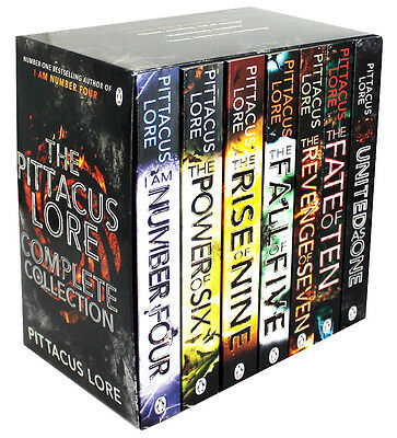 Pittacus Lore Collection Lorien Legacies Series 7 Books Box Set United As One...