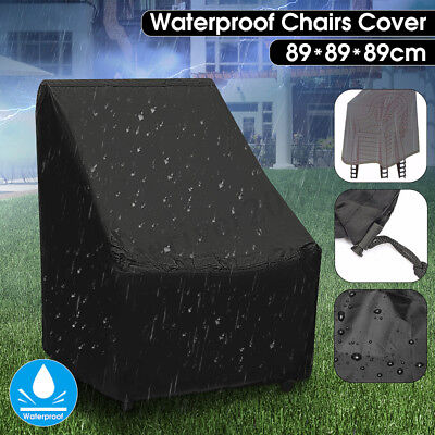 Waterproof High Back Chair Cover Outdoor Patio Garden Furniture Storage